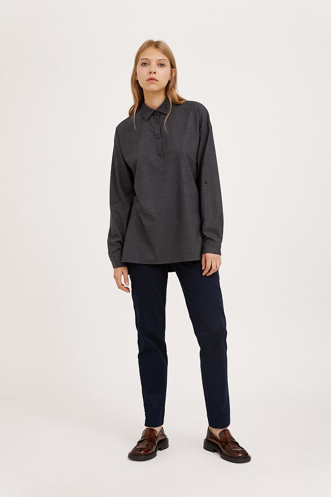 Фото 2 - блузка женская голубого цвета