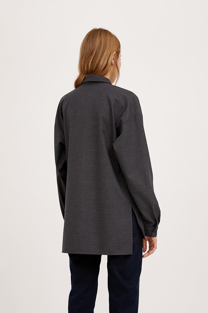 Фото 4 - блузка женская голубого цвета