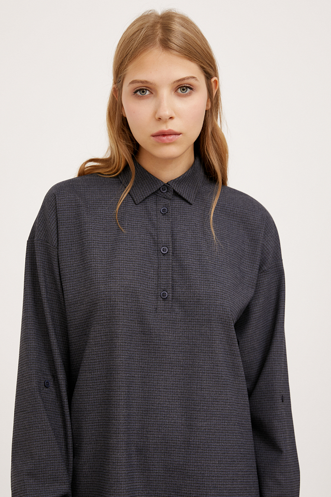 Фото 5 - блузка женская голубого цвета