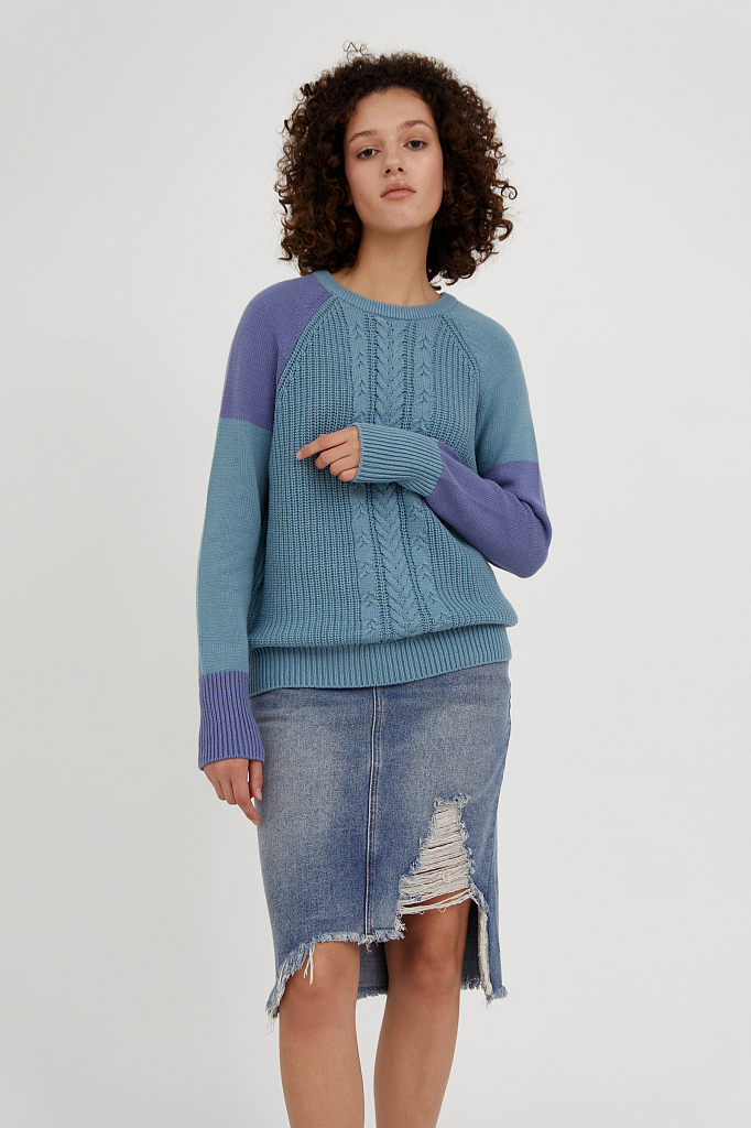 Фото 2 - джемпер женский светло-бирюзового цвета