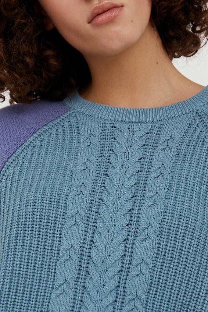 Фото 4 - джемпер женский светло-бирюзового цвета