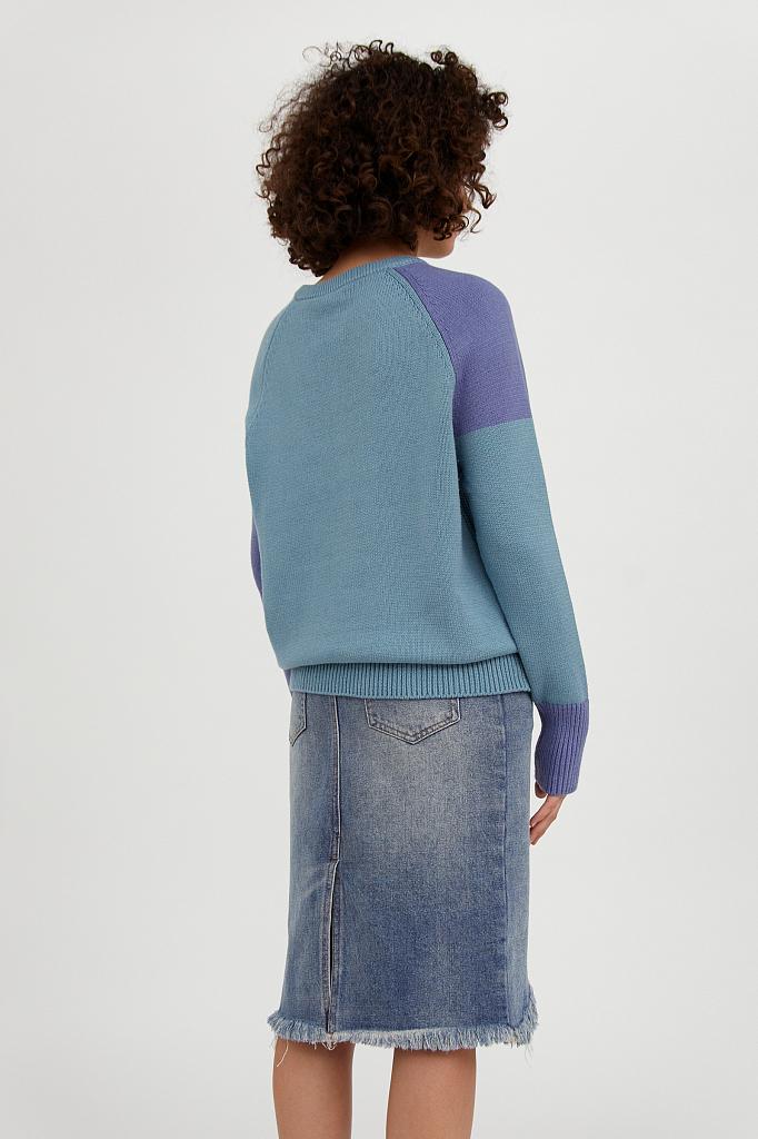 Фото 6 - джемпер женский светло-бирюзового цвета