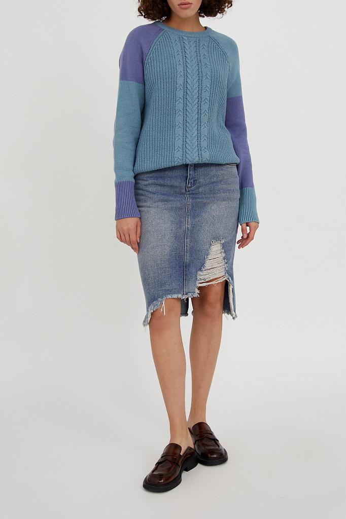 Фото 8 - джемпер женский светло-бирюзового цвета