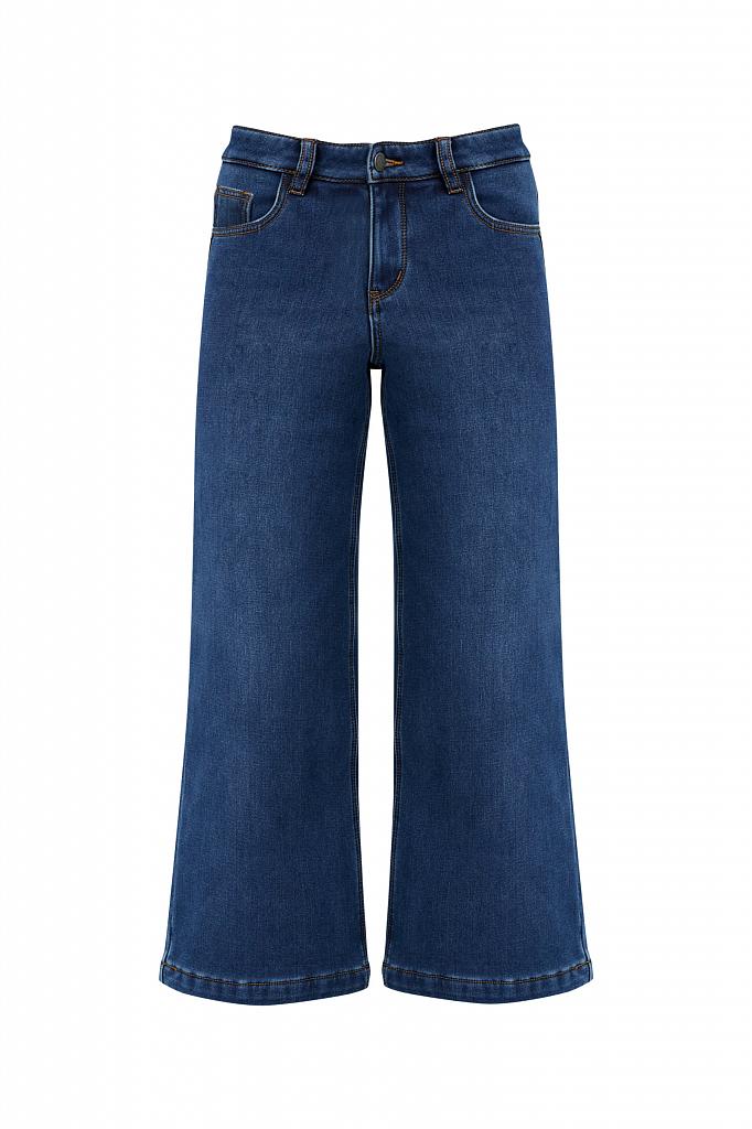 Фото 6 - брюки женские (джинсы) темно-синего цвета