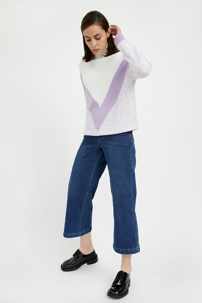 Фото - брюки женские (джинсы) темно-синего цвета