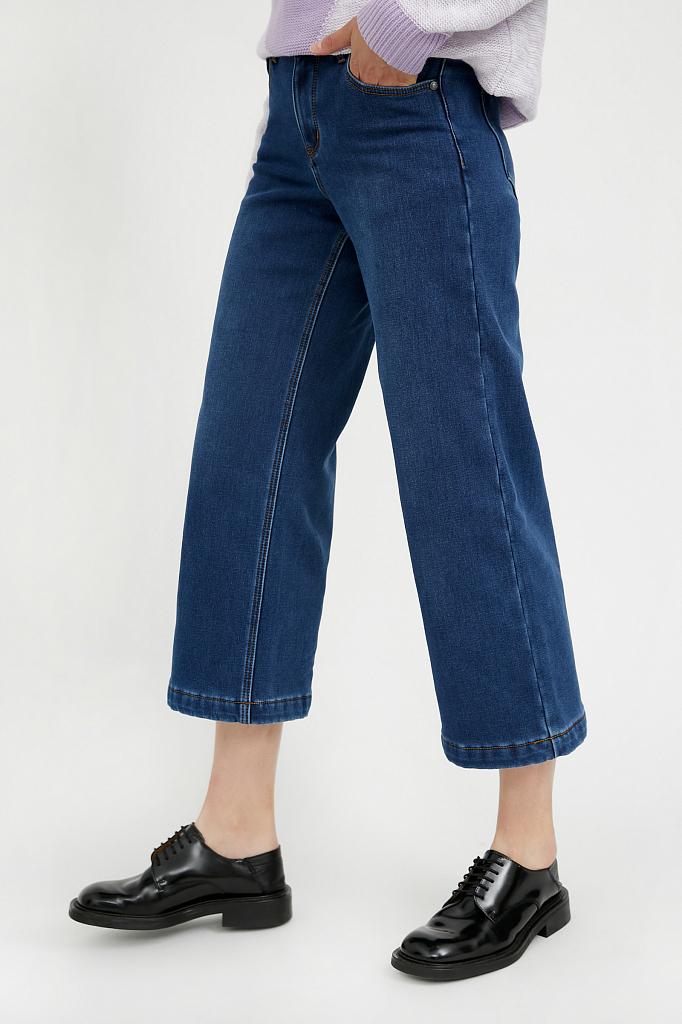 Фото 3 - брюки женские (джинсы) темно-синего цвета