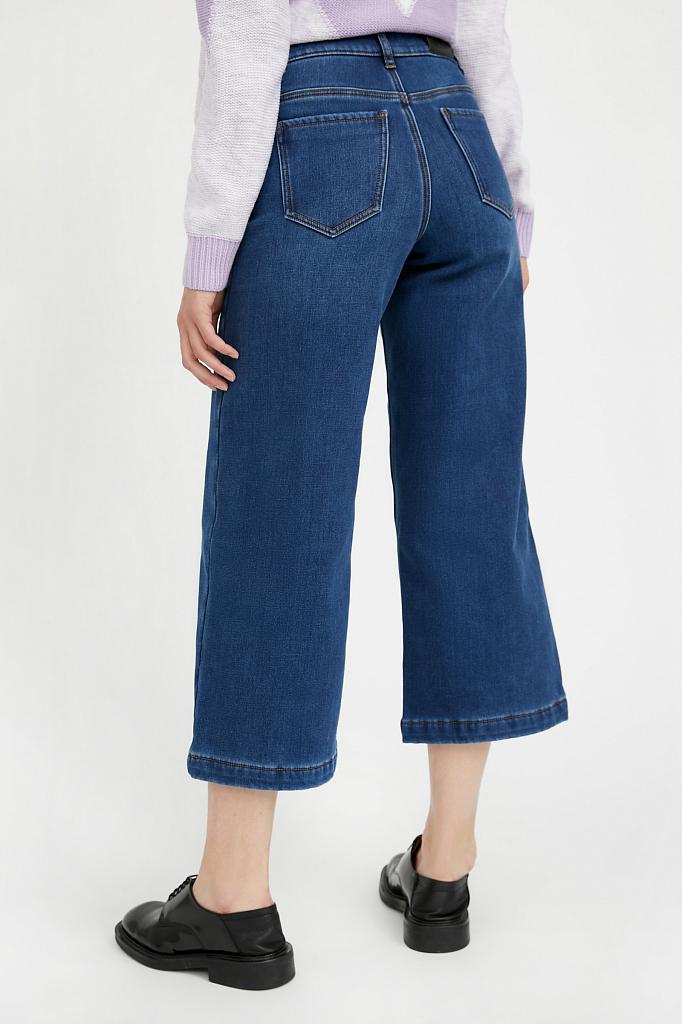 Фото 4 - брюки женские (джинсы) темно-синего цвета