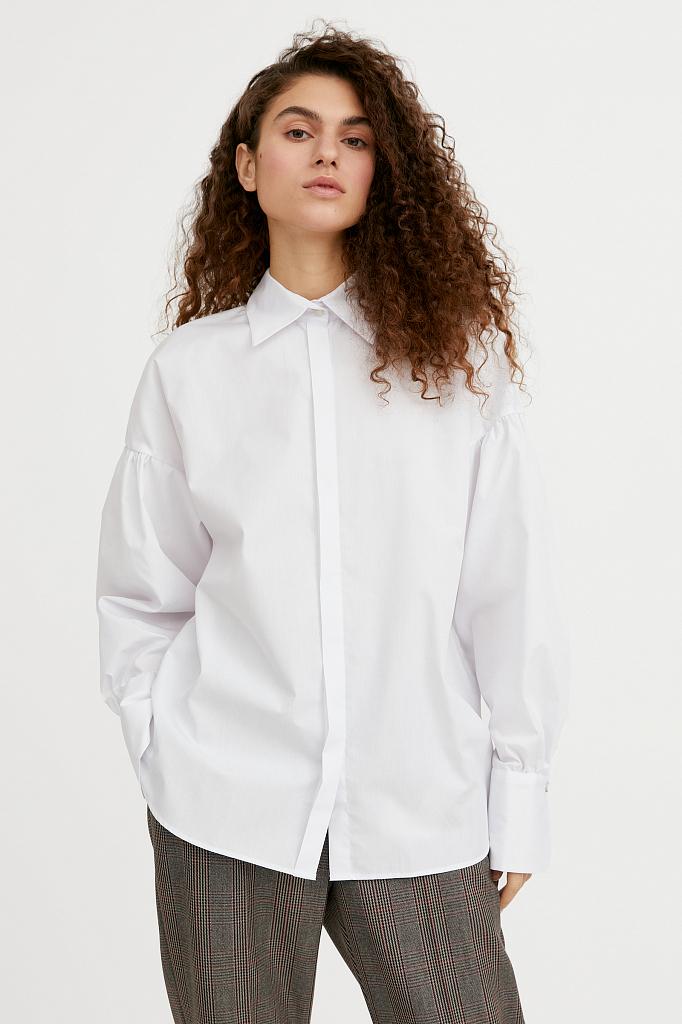 рубашка женская оверсайз с объемными рукавами Finn-Flare