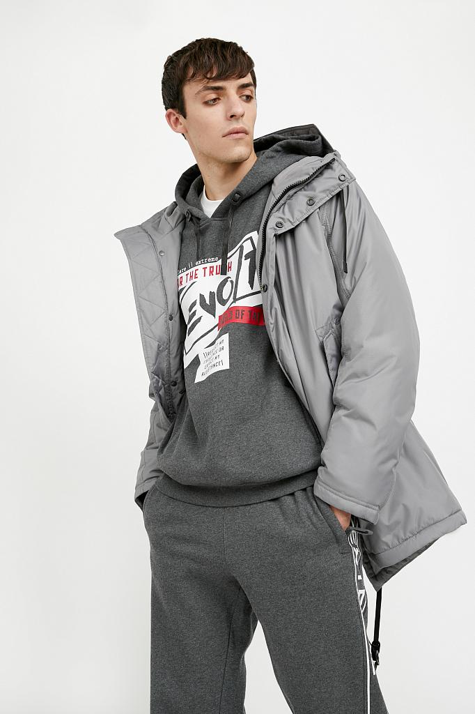 пальто мужское Finn-Flare серого цвета