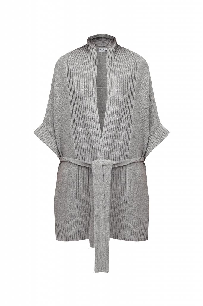 Фото 6 - жилет женский цвета серый меланж