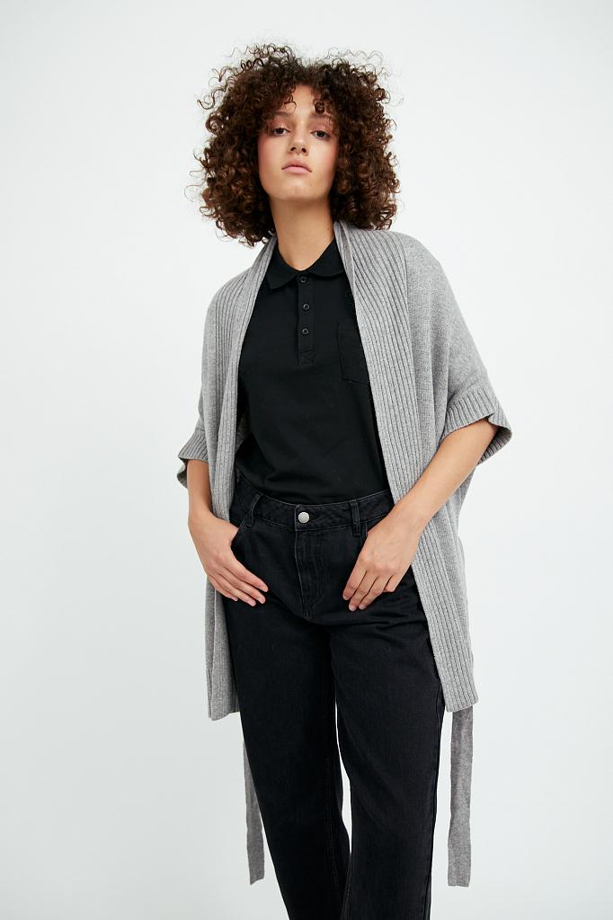Фото 2 - жилет женский цвета серый меланж