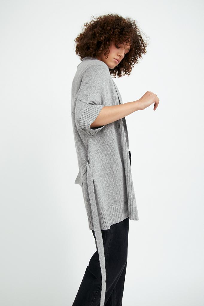 Фото 3 - жилет женский цвета серый меланж