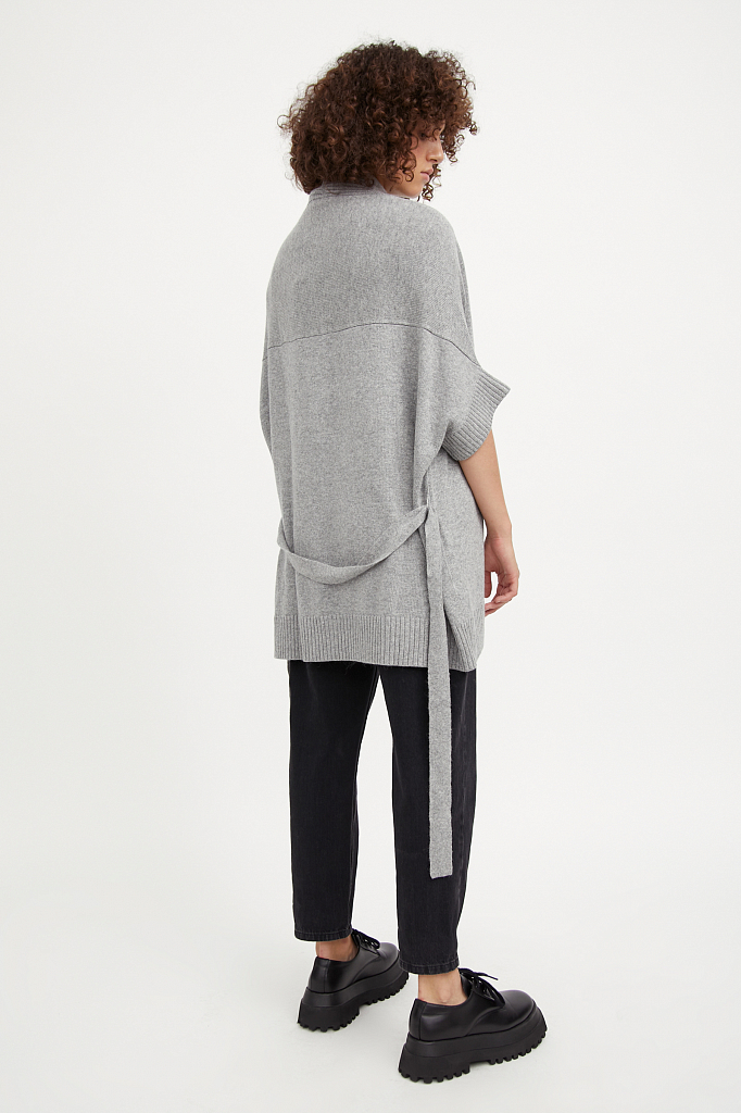Фото 4 - жилет женский цвета серый меланж