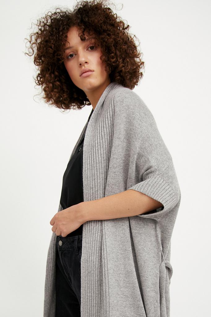 Фото 5 - жилет женский цвета серый меланж