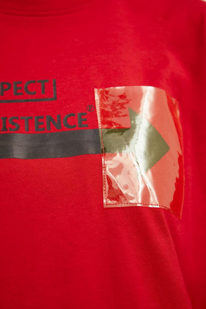 Фото 5 - футболка женская красного цвета