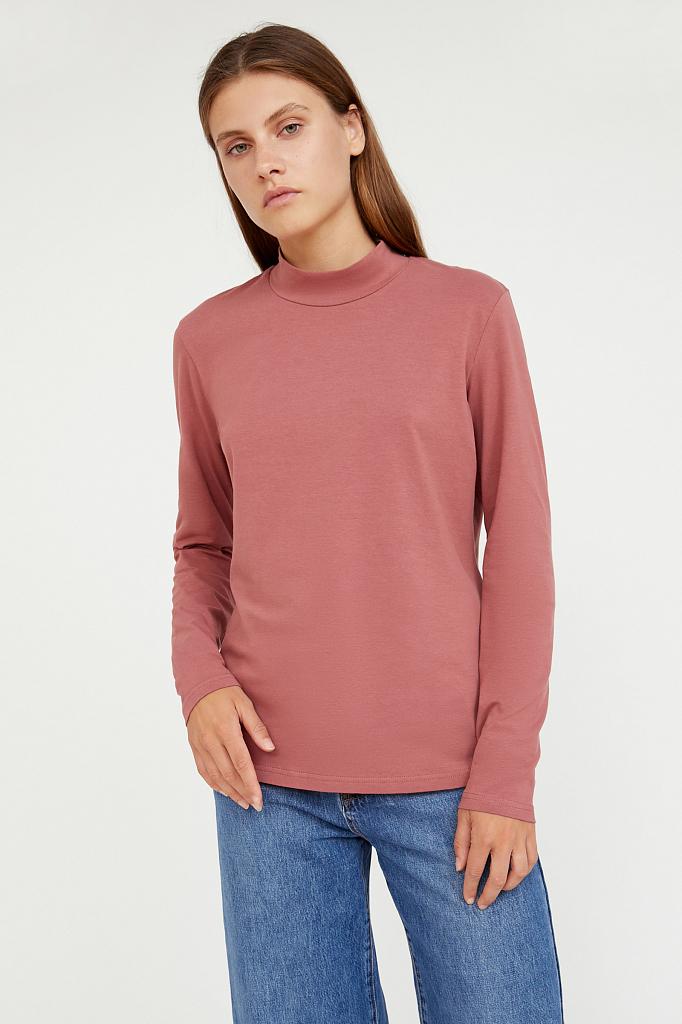 Фото - футболка женская темно-розового цвета