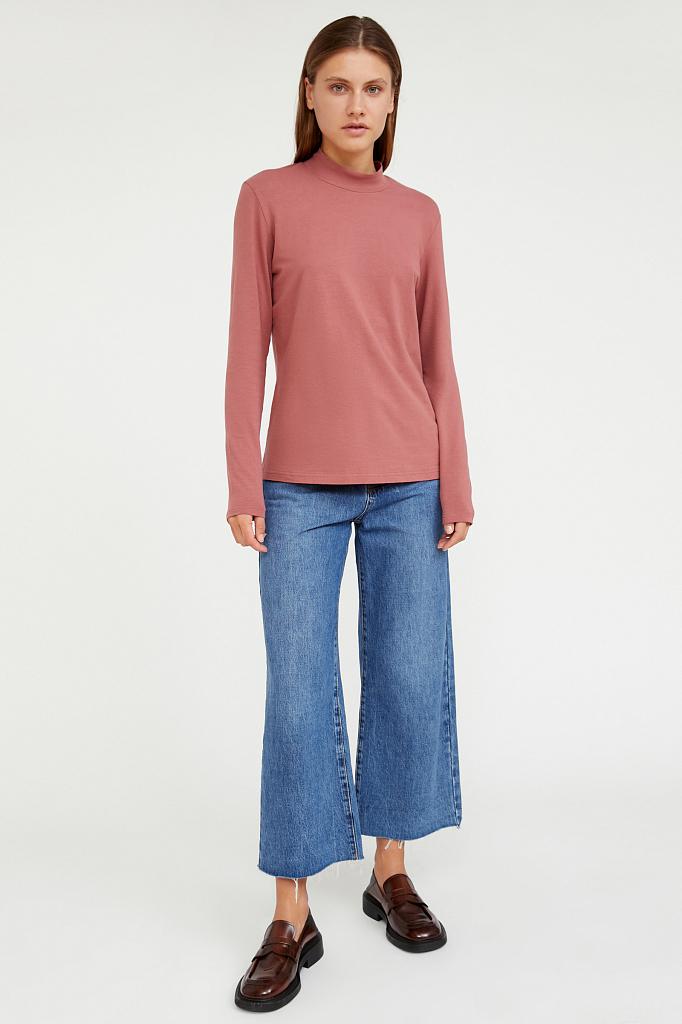 Фото 2 - футболка женская темно-розового цвета
