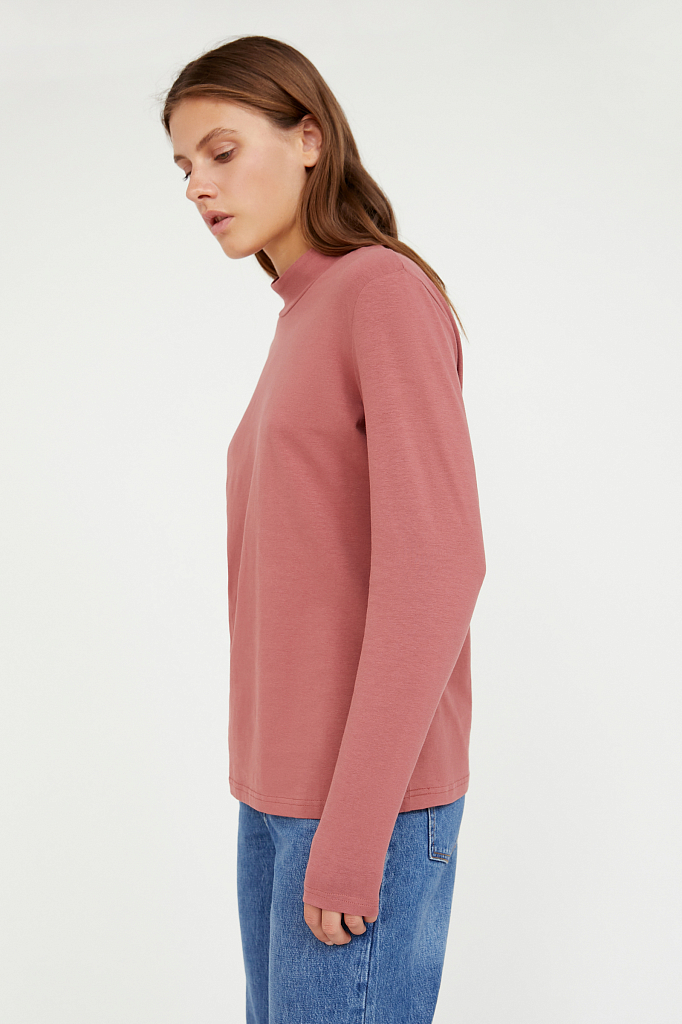 Фото 3 - футболка женская темно-розового цвета