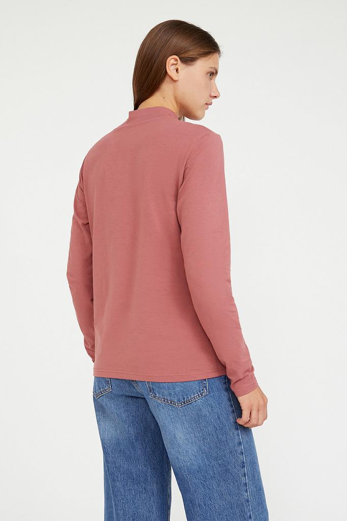 Фото 4 - футболка женская темно-розового цвета