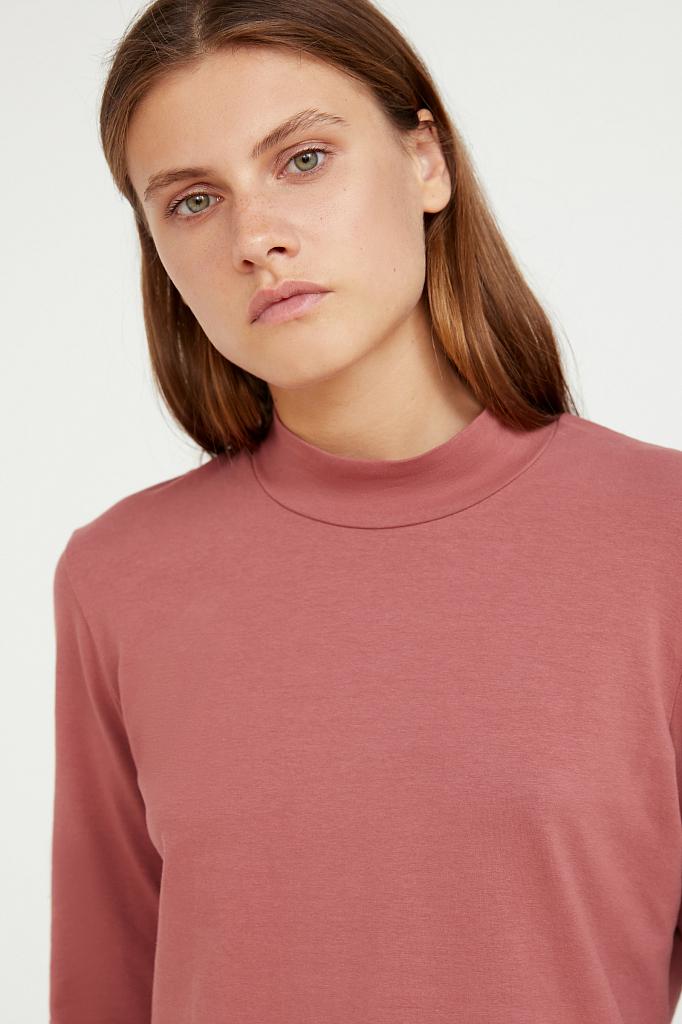 Фото 5 - футболка женская темно-розового цвета