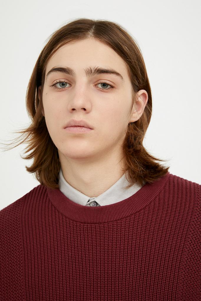 джемпер мужской Finn-Flare цвет вишневый