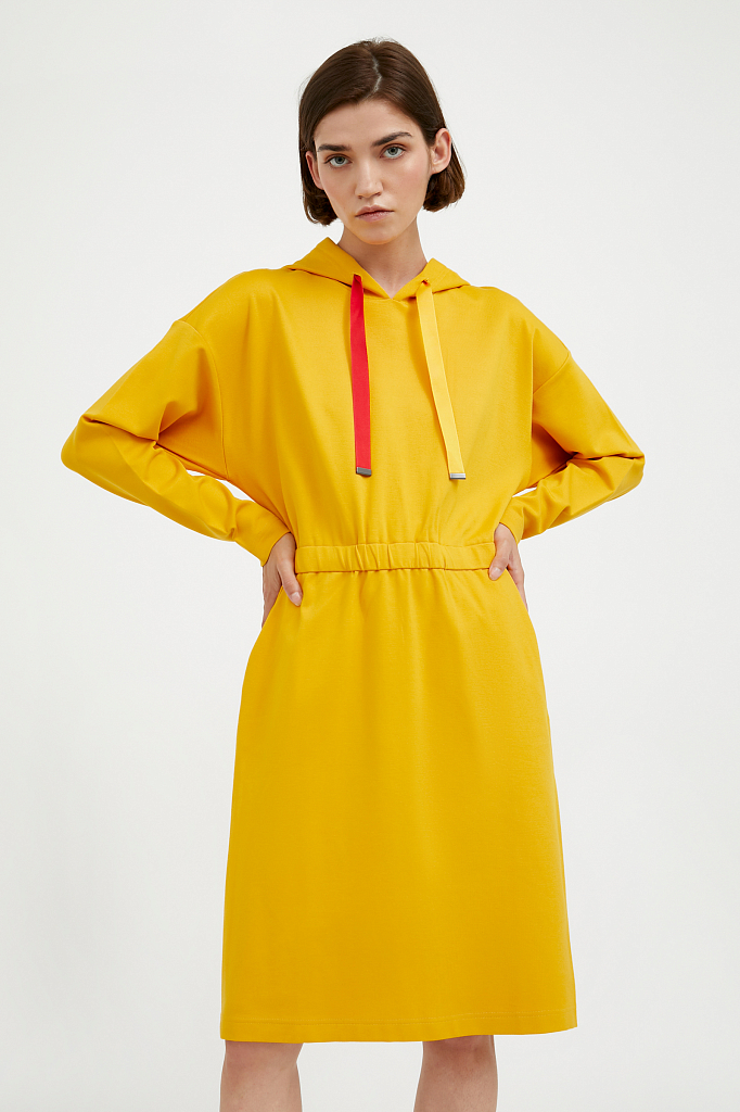 платье женское Finn-Flare желтого цвета