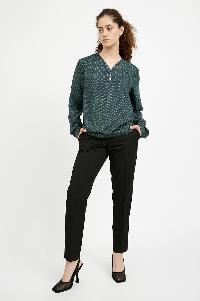 Фото - блузка женская темно-зеленого цвета
