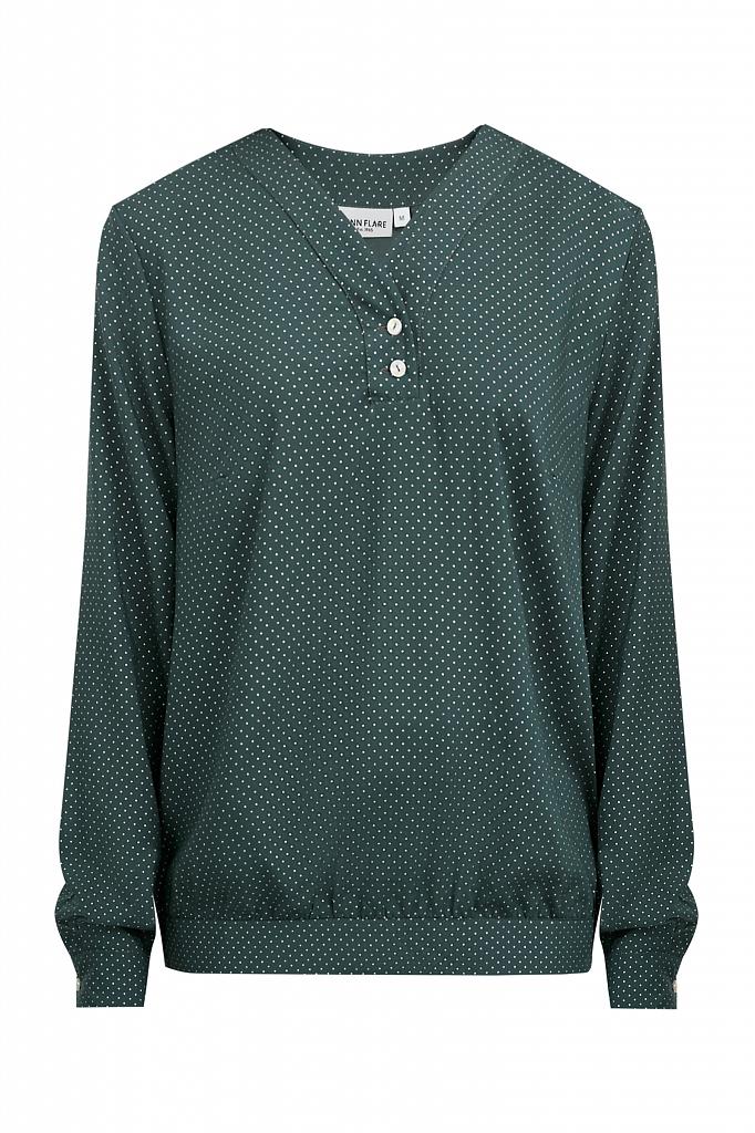 Фото 7 - блузка женская темно-зеленого цвета