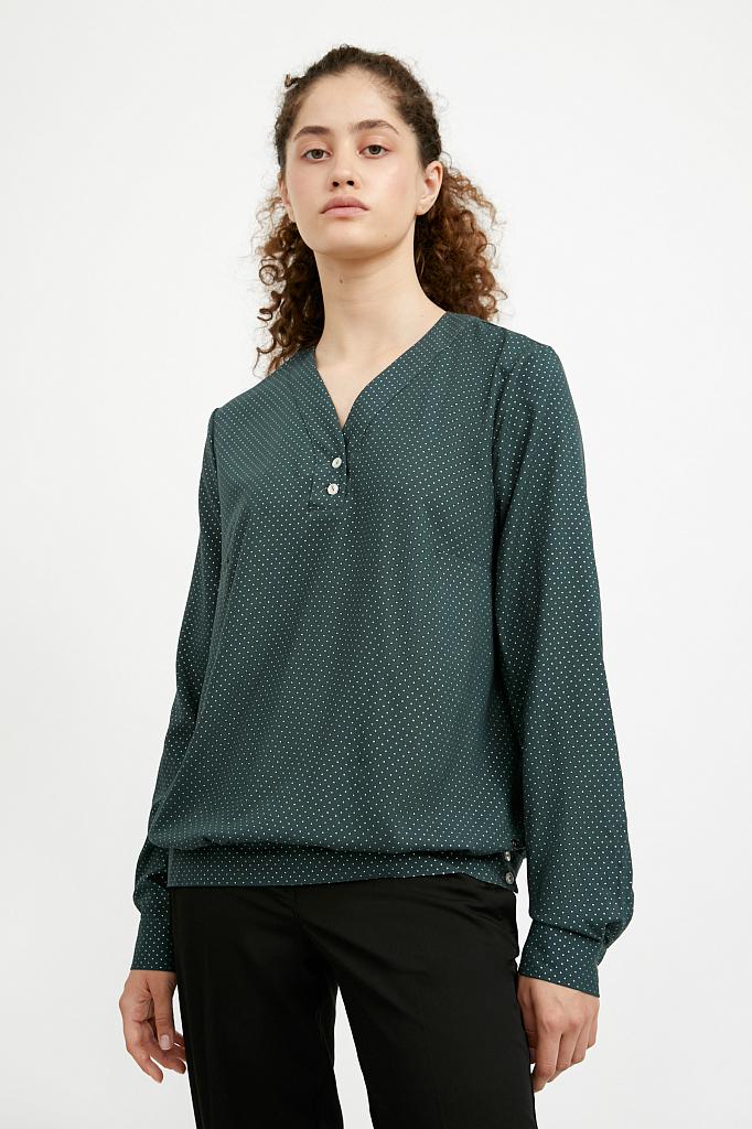 Фото 2 - блузка женская темно-зеленого цвета