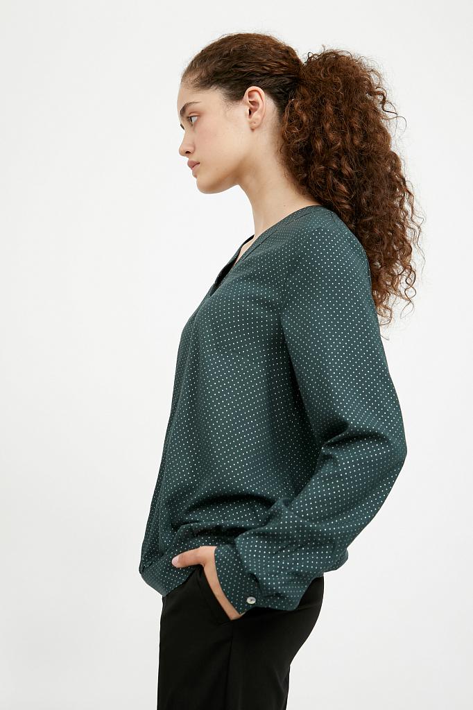 Фото 3 - блузка женская темно-зеленого цвета