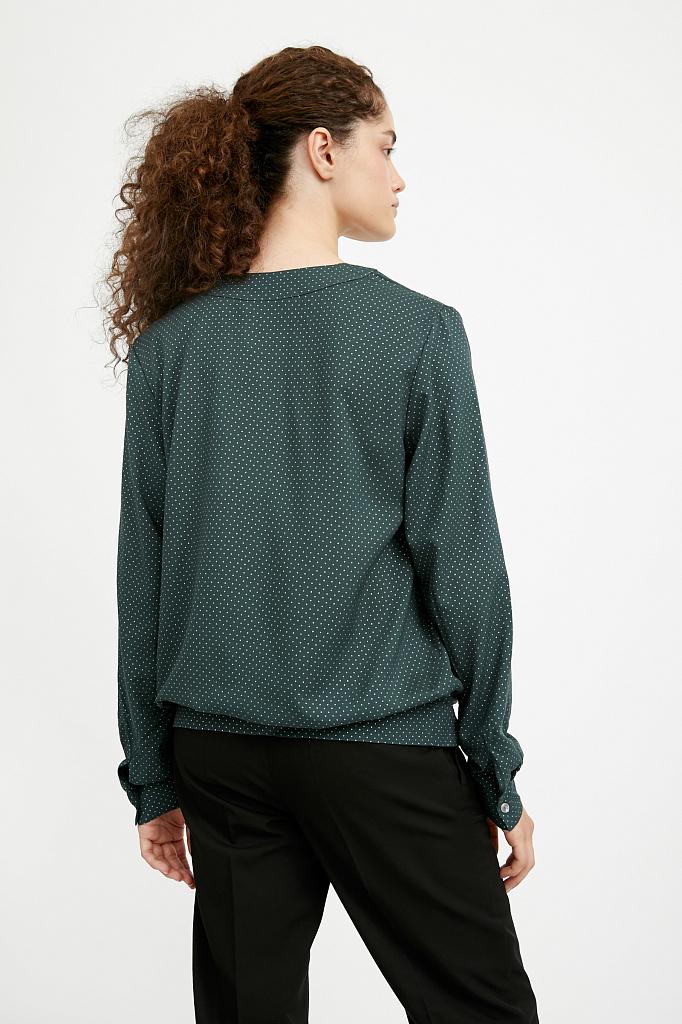 Фото 4 - блузка женская темно-зеленого цвета