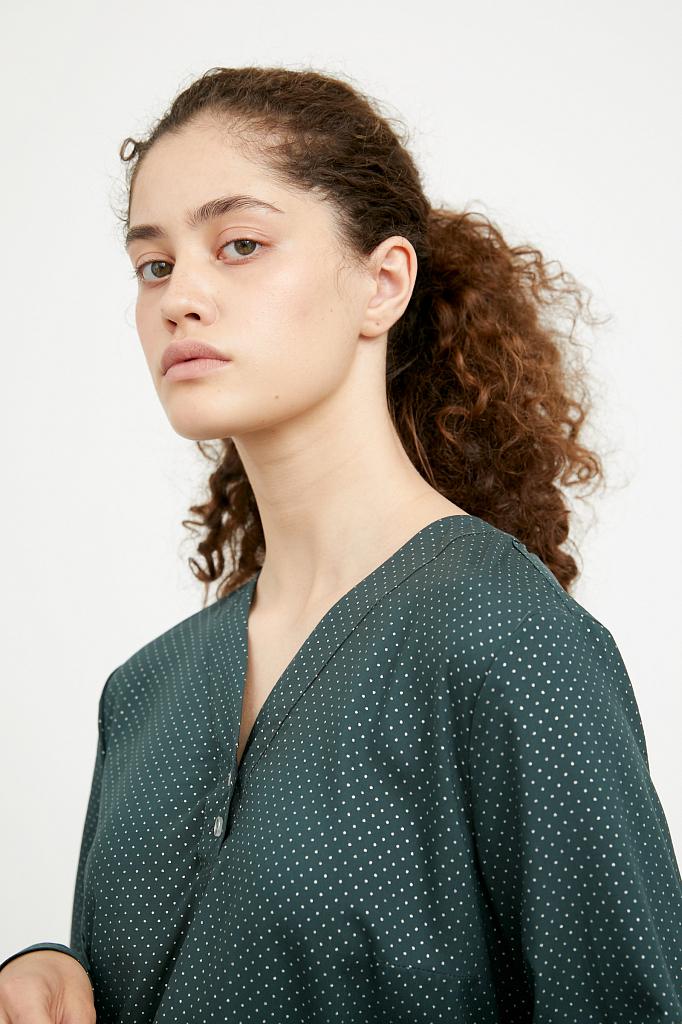 Фото 6 - блузка женская темно-зеленого цвета
