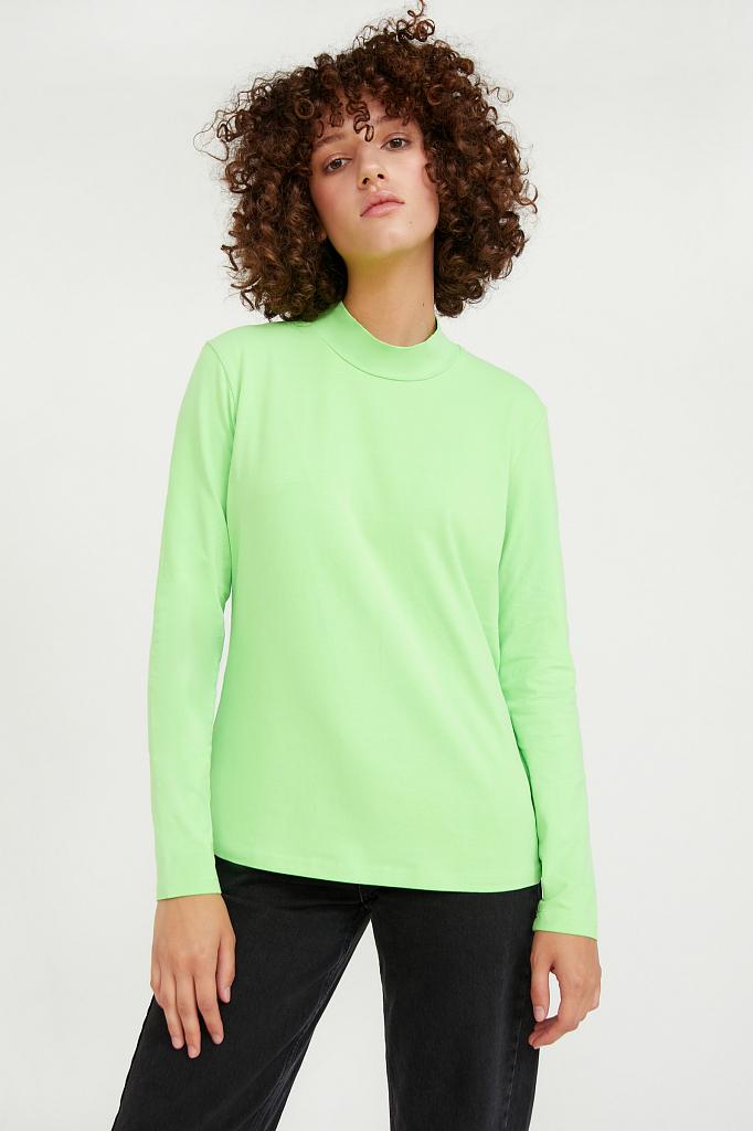 Фото - футболка женская цвет неоновый зеленый
