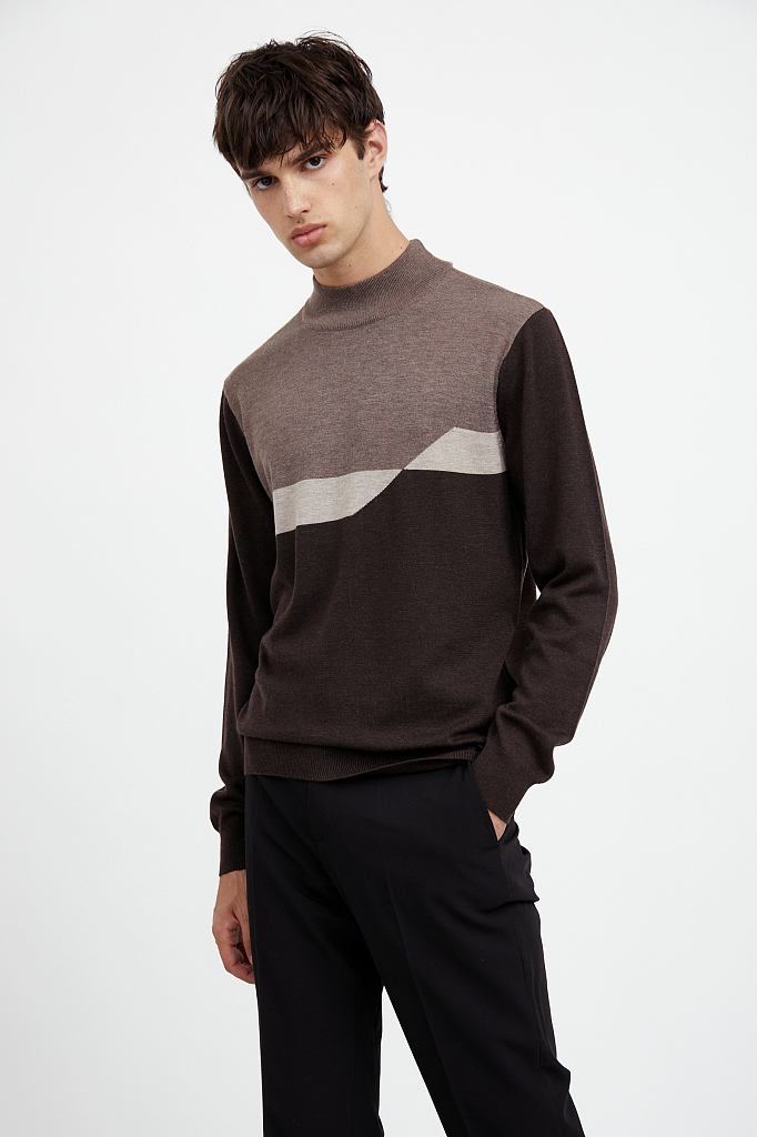джемпер мужской Finn-Flare темно-коричневого цвета