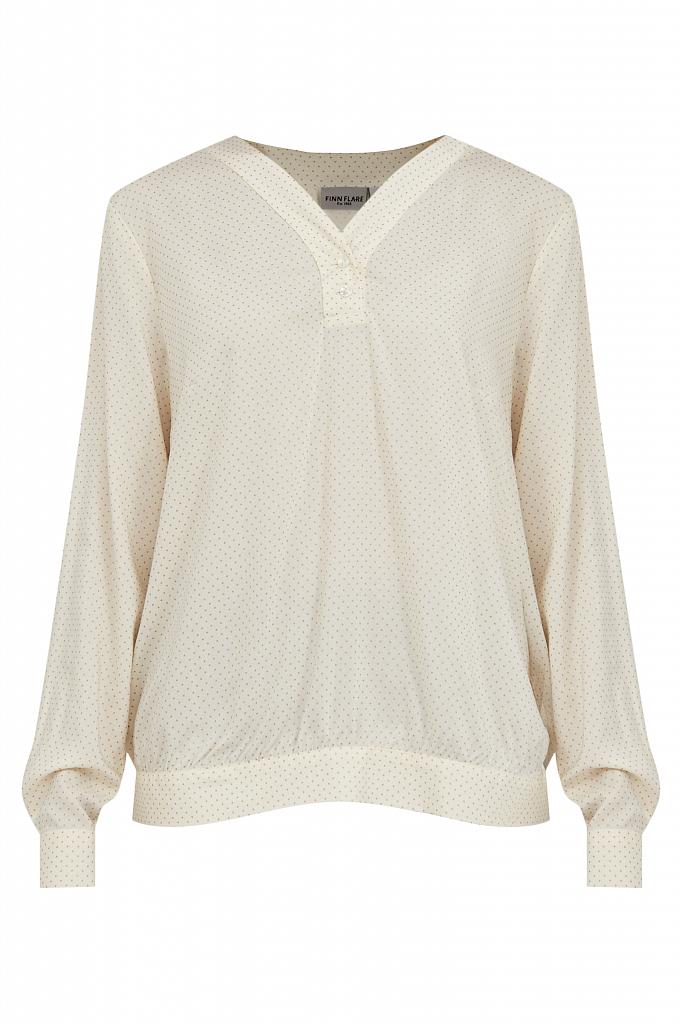 Фото 7 - блузка женская молочного цвета