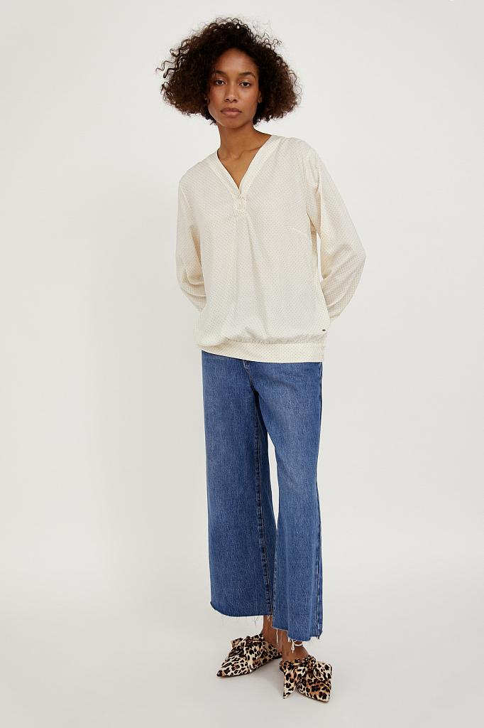 Фото 2 - блузка женская молочного цвета