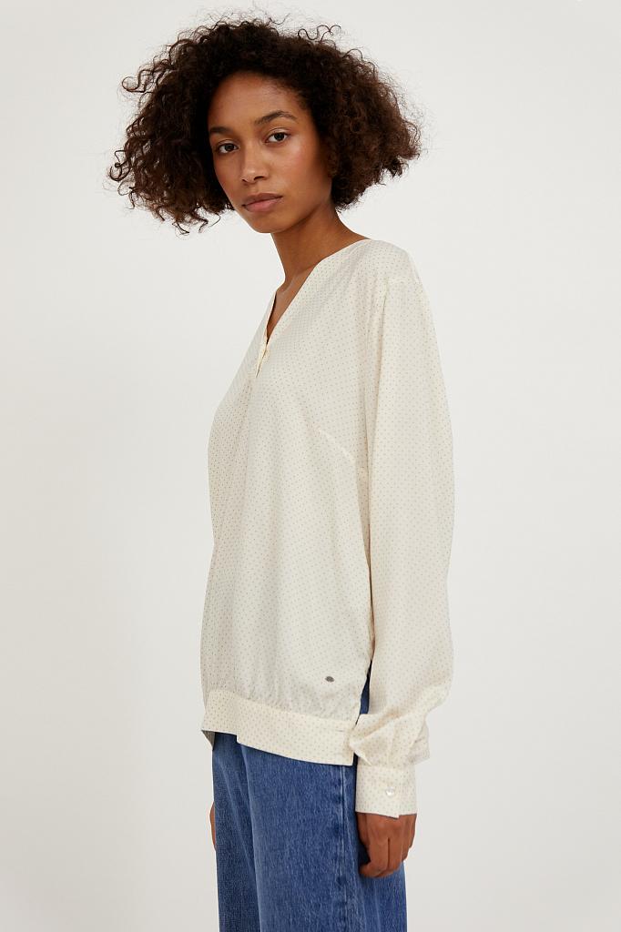 Фото 3 - блузка женская молочного цвета