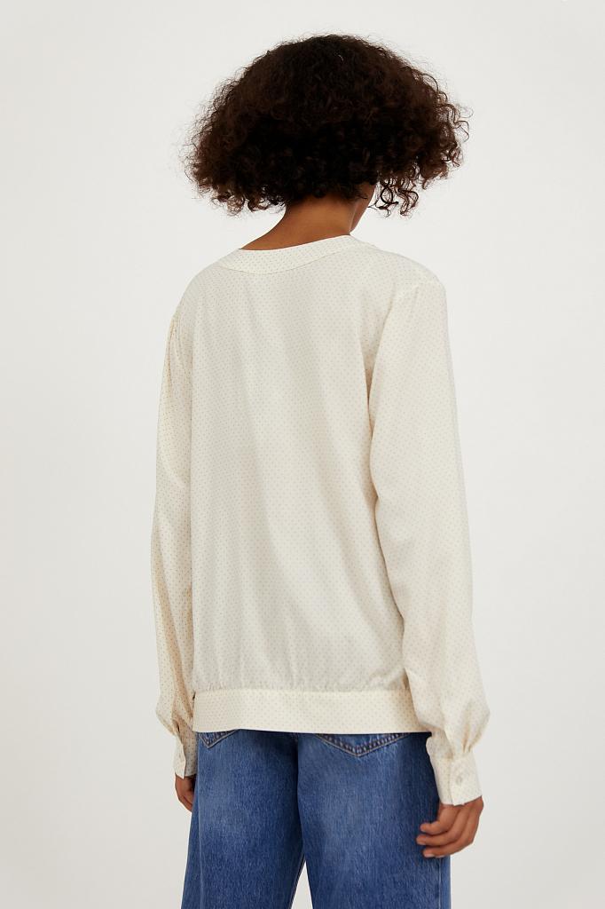 Фото 4 - блузка женская молочного цвета