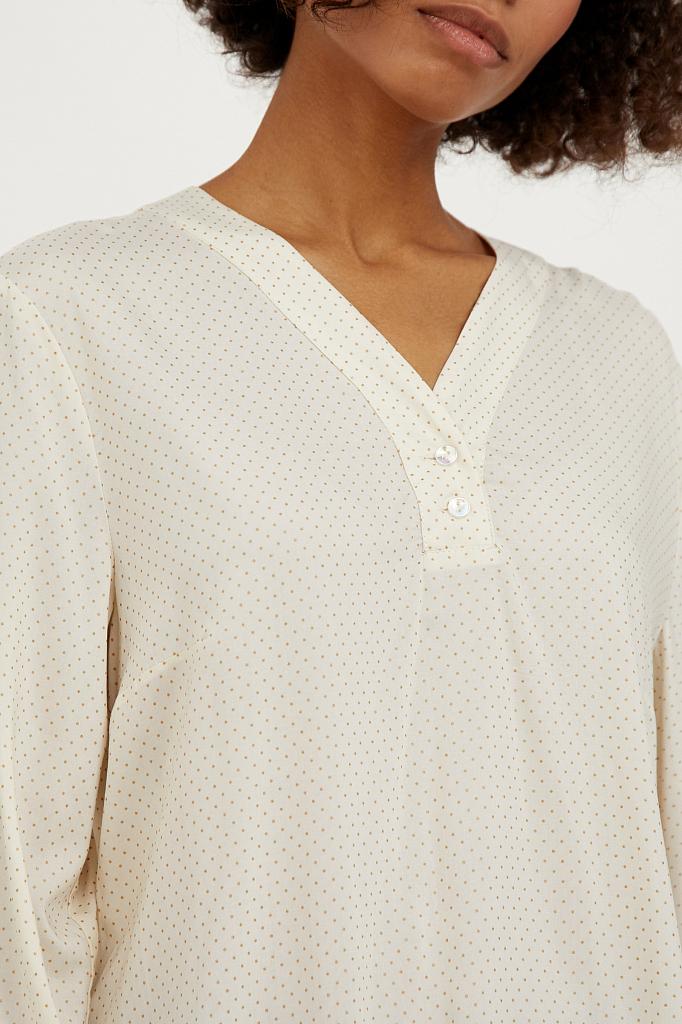 Фото 5 - блузка женская молочного цвета