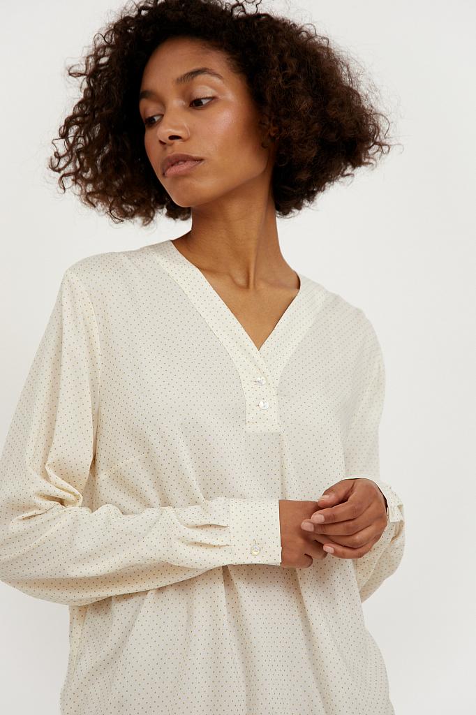 Фото 6 - блузка женская молочного цвета