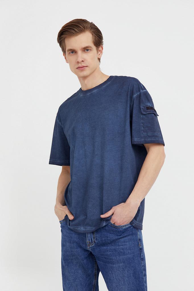 футболка мужская Finn-Flare темно-синего цвета