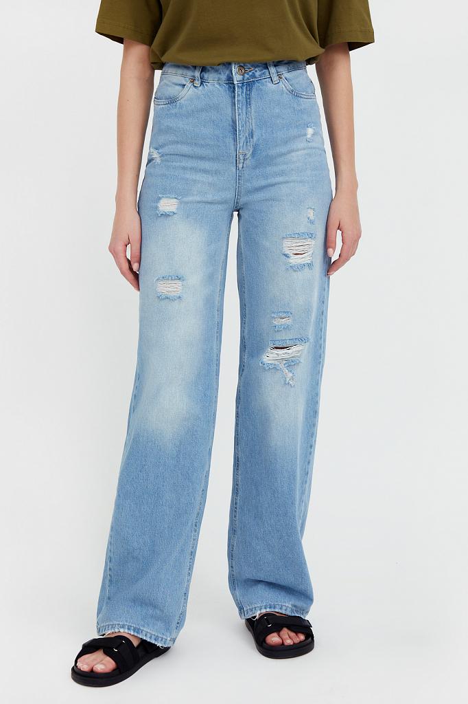 Фото 2 - джинсы женские голубого цвета