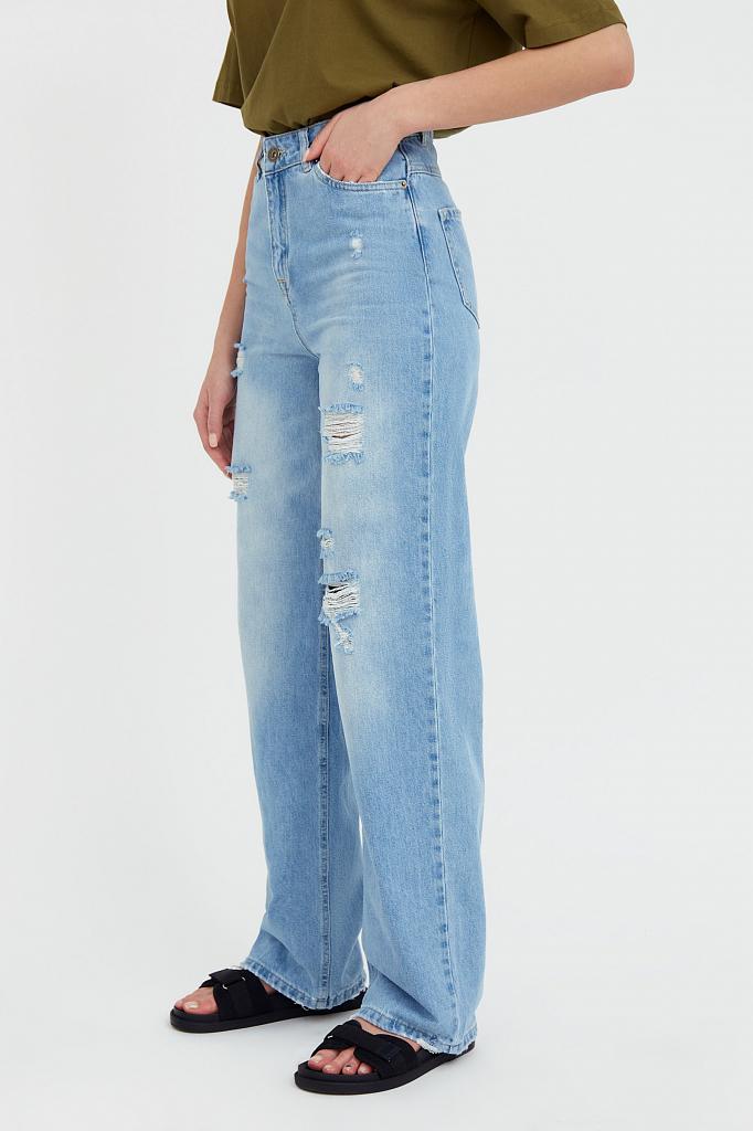 Фото 3 - джинсы женские голубого цвета