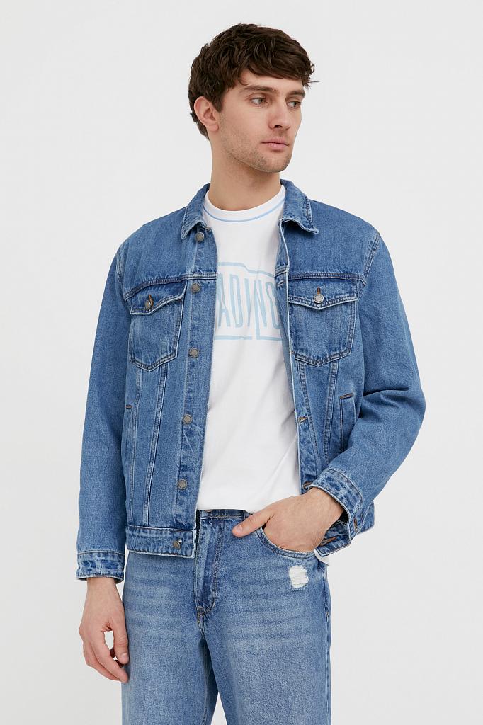 куртка из денима Finn-Flare голубого цвета