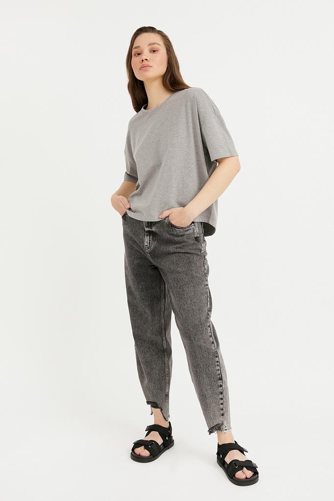 Фото - джинсы женские темно-серого цвета