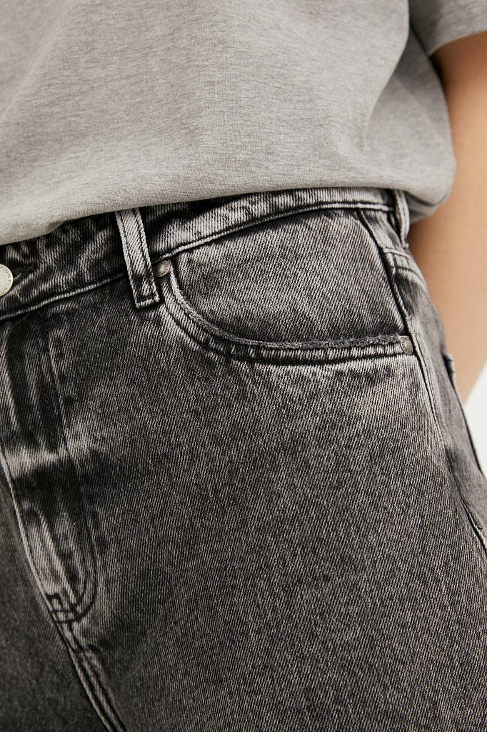 Фото 5 - джинсы женские темно-серого цвета