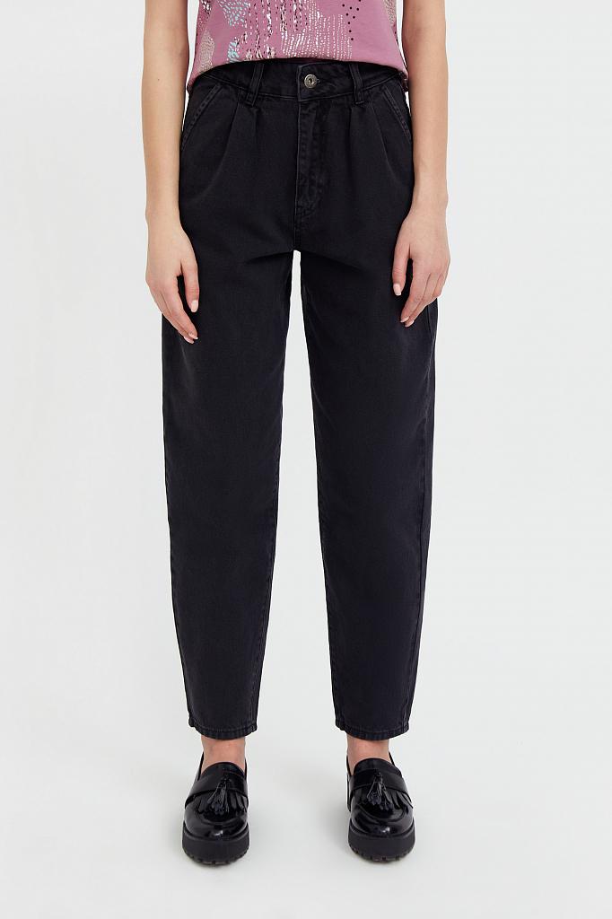 Фото 2 - джинсы женские темно-серого цвета