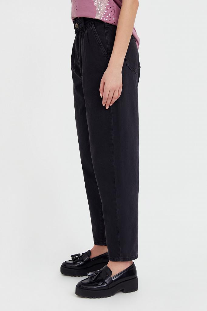Фото 3 - джинсы женские темно-серого цвета