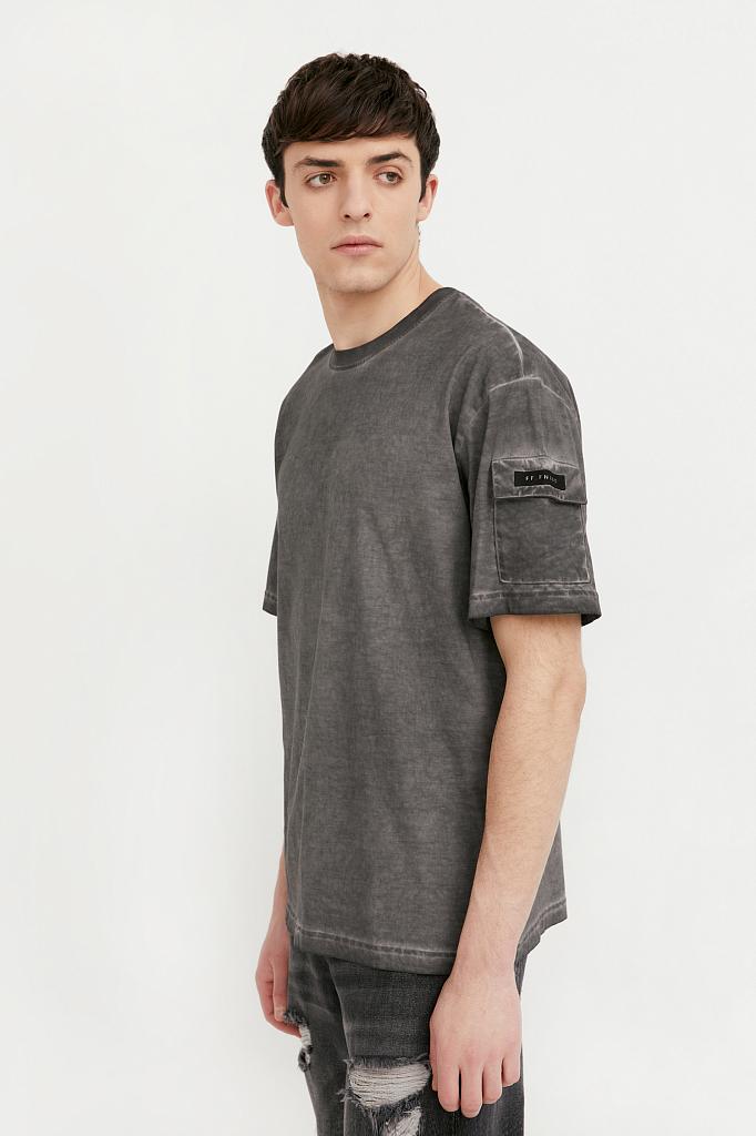футболка мужская Finn-Flare темно-серого цвета