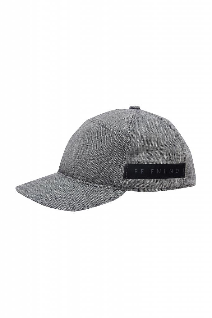 кепи мужское Finn-Flare цвета серый меланж